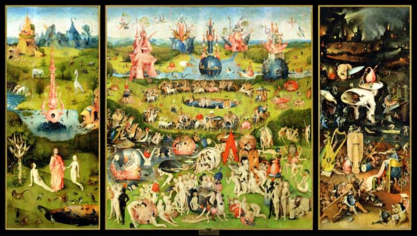 garden of earthly delights poster. [Bosch - The Garden Of Earthly Delights On Canvas, Art Print, Poster] Poster T