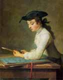 [Chardin - Young Man Sharpening Pencil]