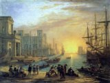 [Claude Lorrain - Seaport, Sunset]