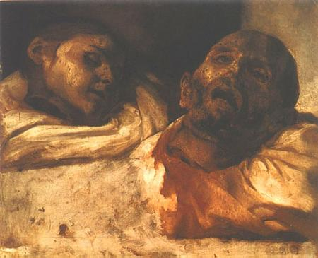 [Theodore Gericault - art print, poster - Severed Heads]