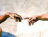 [Michelangelo - Creation of Adam, detail of Hands]