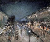 [Pissarro - Boulevard Montmartre at Night]