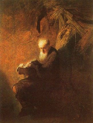 [Rembrandt - art print, poster - Philosopher Reading]