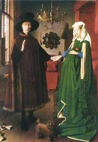 """arnolfini wedding essays Arnolfini's marriage essay - arnolfini's marriage jan van eyck was """"one of the greatest and most influential flemish painters of altarpieces and portraits of the 1400's"""" (hayes) van eyck's paintings often include objects with hidden symbolic meaning."""