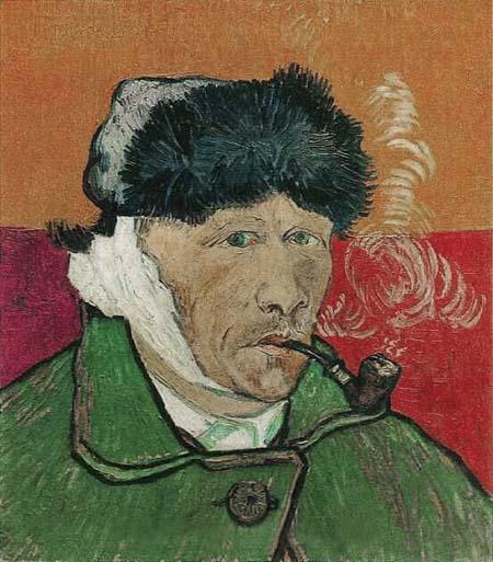 Vincent van gogh art print poster self portrait with bandaged