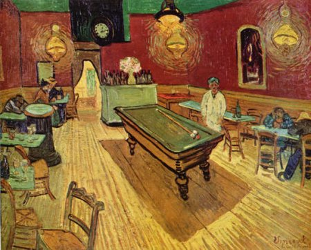[Vincent Van Gogh   Art Print, Poster   Night Cafe With Pool Table]