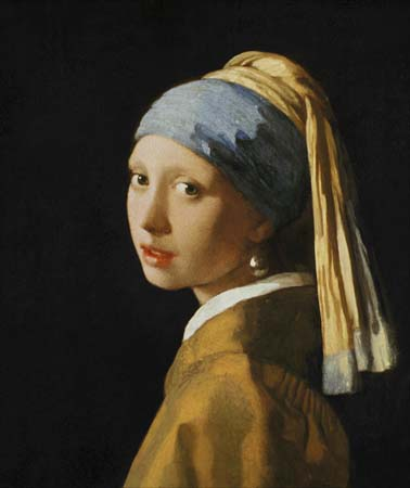 Vermeer girl with a pearl earring canvas print fine art print or