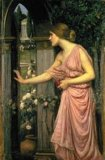 [Waterhouse - Psyche Opening the Door into Cupid's Garden]